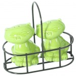 Green cat Set Salt and Pepper