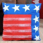 USA Flag red and blue Cushion