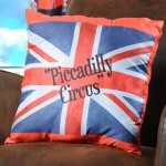 Union Jack Piccadilly Circus Cushion
