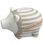 Beige and white Piggy bank