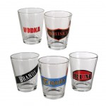 Spirituous Beverages set of 5 shooters