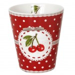 Cherry red espresso cup