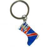 London metal keyring - Union Jack boot