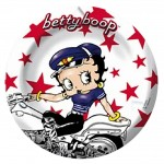Betty Boop métal ashtray - Biker