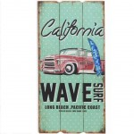 California wave wooden wall decoration to hang