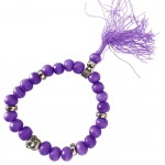 Buddhist Bracelet wooden beads - Purple