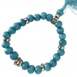 Buddhist Bracelet wooden beads - Blue