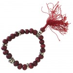 Buddhist Bracelet wooden beads - Red