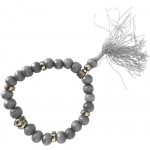 Buddhist Bracelet wooden beads - Grey