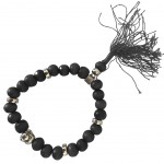 Buddhist Bracelet wooden beads - black