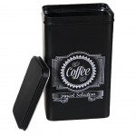 Retro Coffee box matte black metal