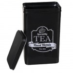 Retro Tea box matte black metal
