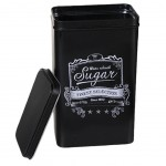 Retro Sugar box matte black metal