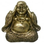 Buddha resin gold statue 10 cm - Not Hear