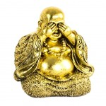 Buddha resin gold statue 10 cm - Not see