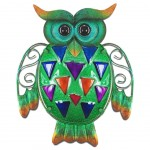 Owl wall decoration 24 cm - Green model