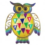 Owl wall decoration 24 cm - Yellow model