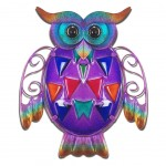 Owl wall decoration 24 cm - Purple model