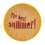 The Best Summer Yellow metal tray 31 cm