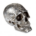 Skull Money Box resin - Silver