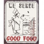 Thermometer metal plate Deco 25 x 20 cm - We Serve Good Food