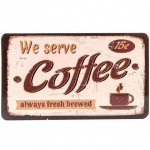 We serve Coffee Cutting board 23 x 14 cm