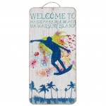 Welcome Surf wooden wall decoration to hang
