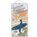 Amazing Surfing wooden wall decoration to hang