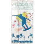 Surf Welcome wooden wall decoration to hang
