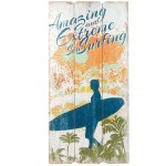 Surf Amazing wooden wall decoration to hang