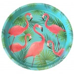 Flamingo metal tray 33 cm - Green