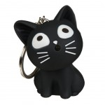 Cat Light and sound Keychains - Black