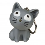 Cat Light and sound Keychains - Gris