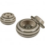Moroccan Beige ashtray - Light grey stripes