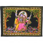 Wall hanging Radha and Shiva the eternal lovers  40 x 55 cm