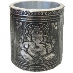 God Ganesh pencil pot - hammered aluminum