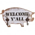 Pig Coat rack wooden 2 supports