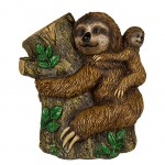Sloth mom and baby on tree Moneybox