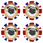 UK Carlin Set of 4 coasters Cbkreation