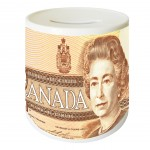 Canadian Dollar money box by Cbkreation