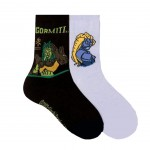 2 pairs Gormiti of socks black and blue 23-26