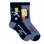 Simpsons 2 Pairs of socks size 19-22