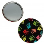 Graffiti compact mirror