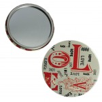 Love calligraphy compact mirror