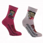 set of 2 Pair of socks Betty Boop size 27-30
