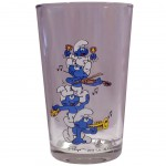 Smurf fruit juice glasses