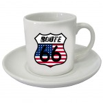 Set of 2 Coffee cups Usa by CBK