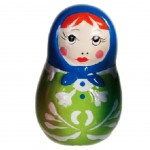Russian doll Green figure 6 cm