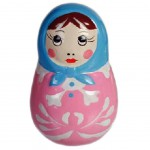 Russian doll Pink figure 6 cm