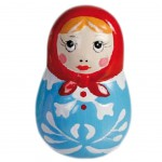 Russian doll Blue figure 6 cm